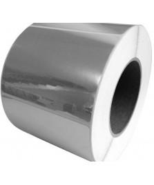 Etichetta rettangolare argento specchio