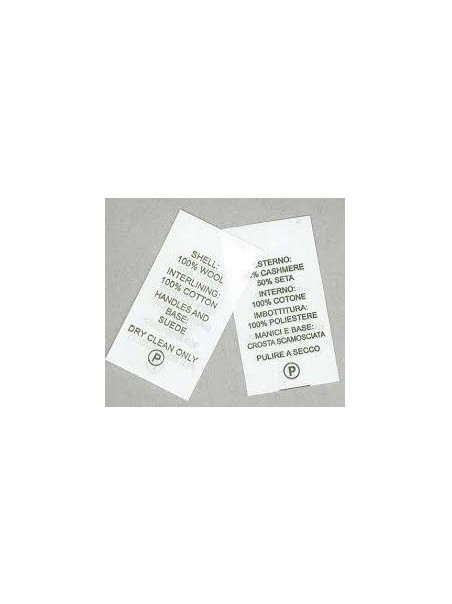 Rotolo TNT 100 mm per etichette composizione tessuti