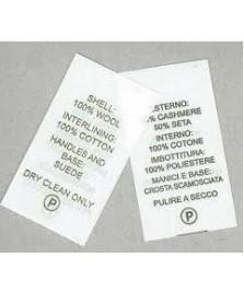 Rotolo TNT 25 mm per etichette composizione tessuti