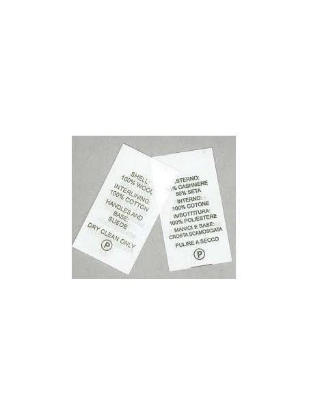 Rotolo TNT 40 mm per etichette composizione tessuti