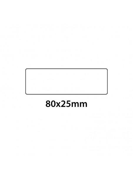 Etichette in pvc trasparenti 80x25mm 650 pezzi