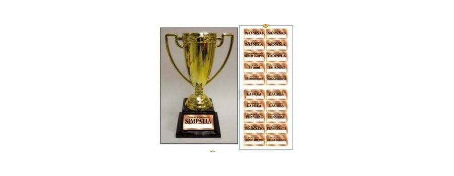 Etichette premiazioni