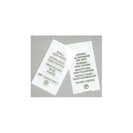 Etichette in tessuto per composizione